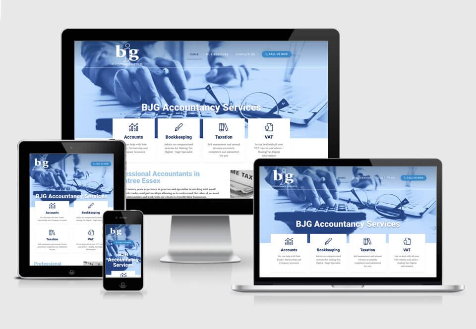 BJG Accountancy website case study