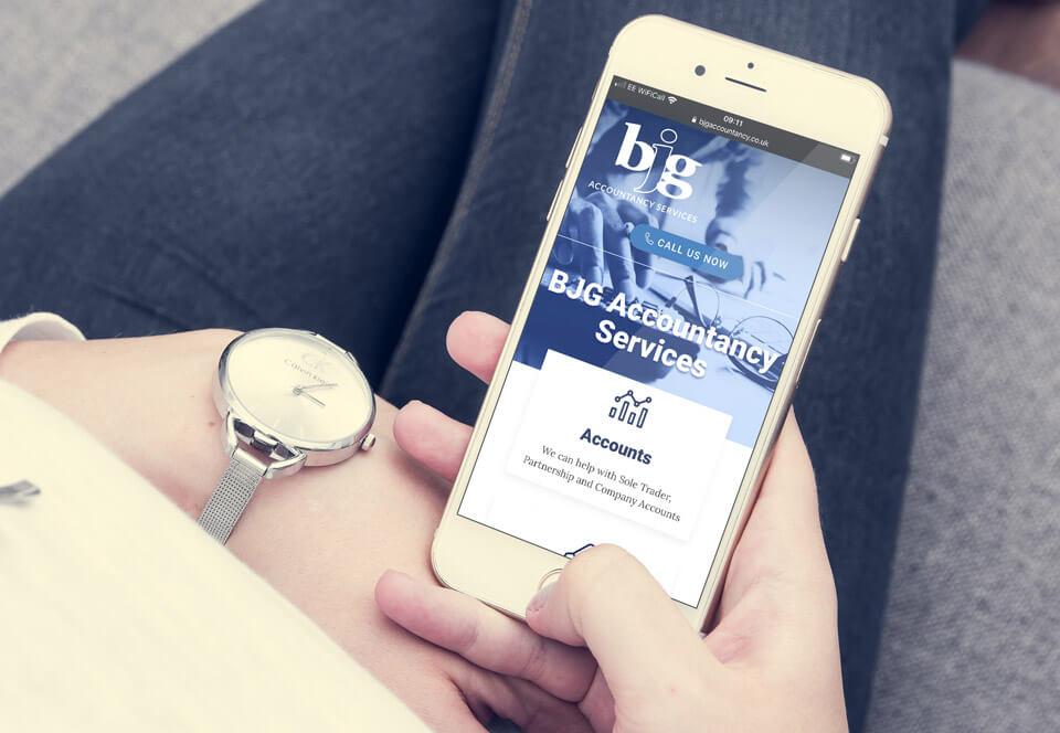 BJG Accountancy website mobile view