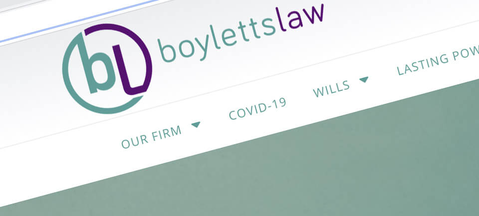 Boyletts Law website case study