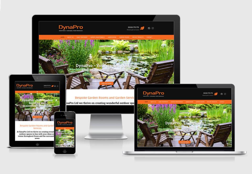 DynaPro website case study responsive views
