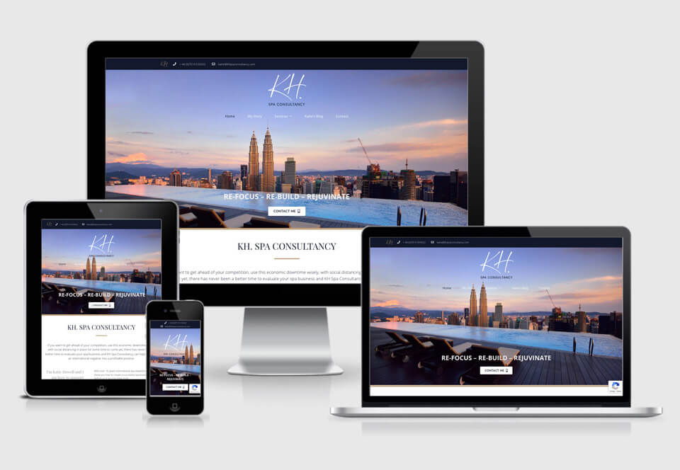 KH Spa Consultancy Services website case study