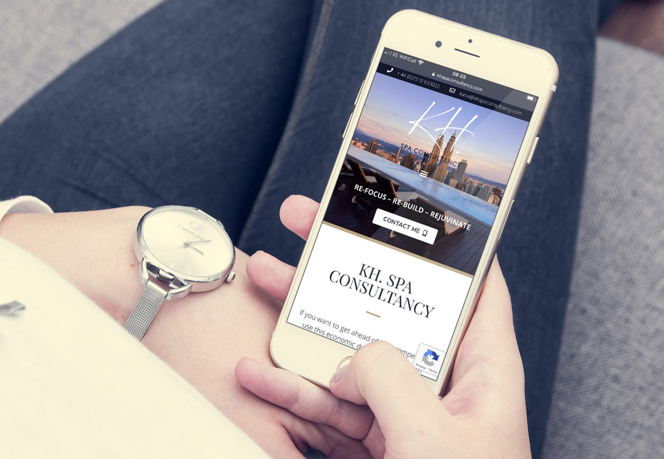 KH Spa Consultancy website mobile view